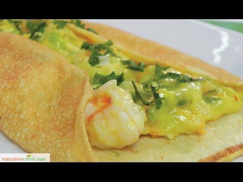 Cr pes crevettes crepes mit garnelen tunesisch orien for Slatet blankit