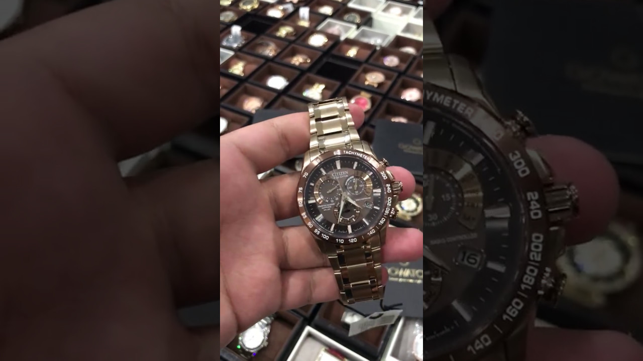 6926708d478e Citizen Eco-Drive Men s AT4106-52X Perpetual Chrono A-T Rose Gold-Tone Watch