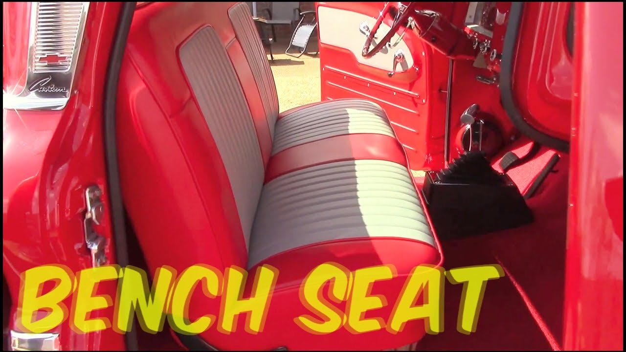 Bolted seat in 63 chevy c10 - YouTube