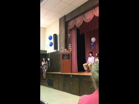 June 5th 2015 Jace Michael Hogue Graduation Speech from Montessori In Redlands  6th Grade Grad