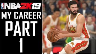 "NBA 2K19 - My Career - Let's Play - Part 1 - ""MyPlayer Creation (Facescan), Stats, Chinese League"""