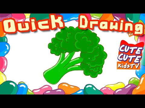 How To Draw A Broccoli I Cara Menggambar Brokoli I 如何畫西蘭花 I