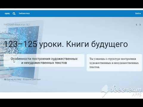 Уроки 123-125. Русский язык. Книги будущего. 4 класс