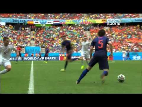 España vs Holanda Primer Tiempo Mundial 2014 DirecTV Sports HD