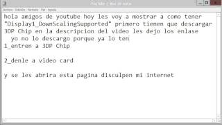 "Video Como tener ""Display1_DownScalingSupported"" download MP3, 3GP, MP4, WEBM, AVI, FLV Mei 2018"
