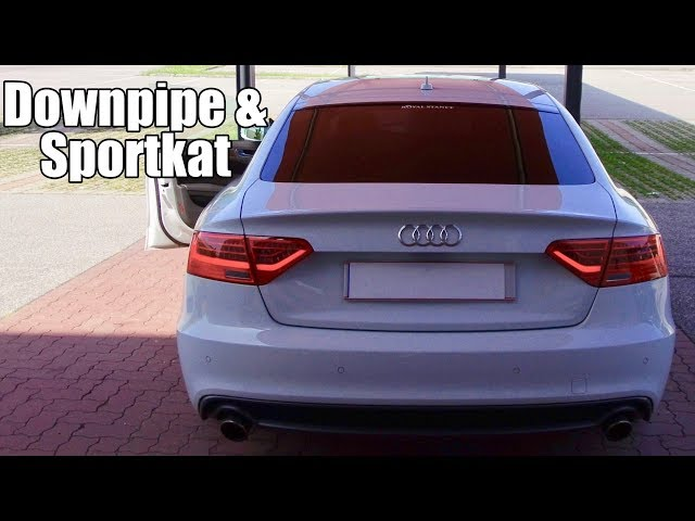 Audi A5 Facelift 2013 2.0 TFSI (211 PS) Downpipe Sportkat Auspuff Sound