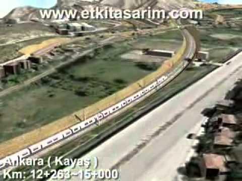 Ankara Erzurum Erzincan HizliTren Hattı Animasyonu