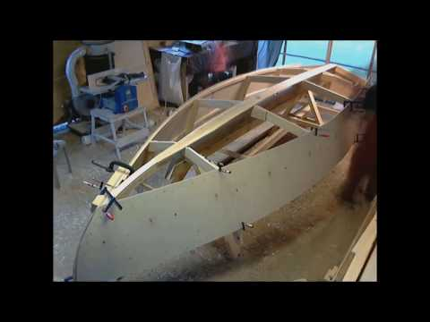 Sailboat building timelapse, 16footer, part 1