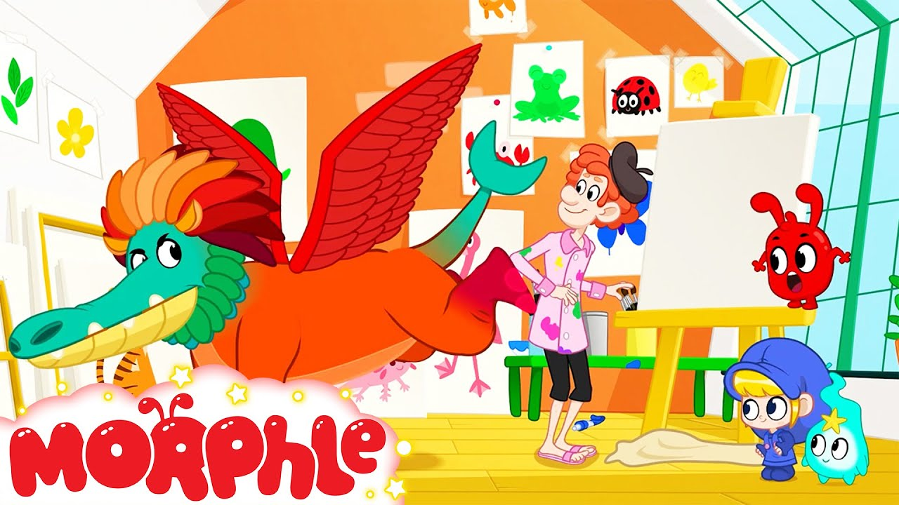Monster Painting - Mila and Morphle   Painting   Colors   Kids Cartoons