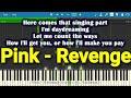 Pink Revenge Ft Eminem Piano Lyrics mp3