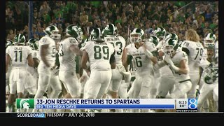 MSU's Dantonio reveals team motto; Reschke back on roster