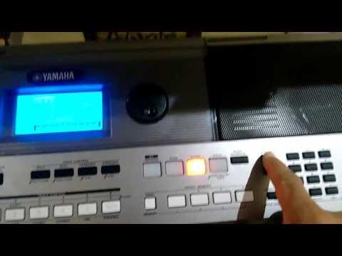 Programação de vaneira e Acordeon do teclado Yamaha E 443.