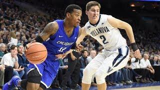 Creighton men's basketball at villanova highlights - 2/1/18