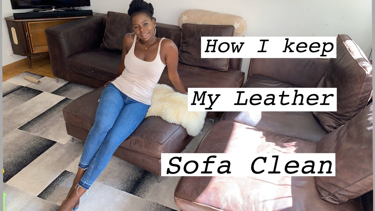 How To  Keep Your Leather Sofa clean  | Clean With Me