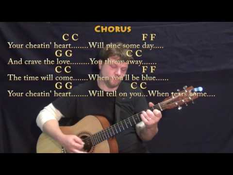 Your Cheatin' Heart (Hank Williams) Guitar Lesson Chord Chart with Chords/Lyrics