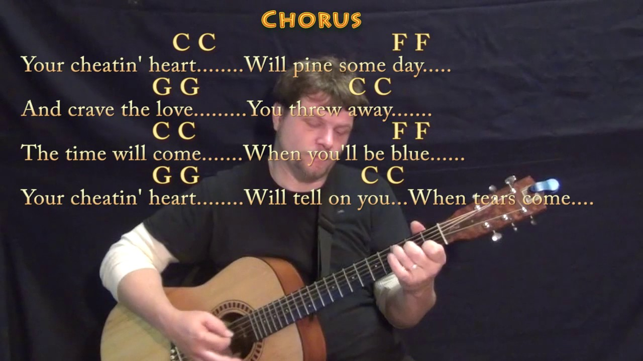 Your Cheatin Heart Hank Williams Guitar Lesson Chord Chart With