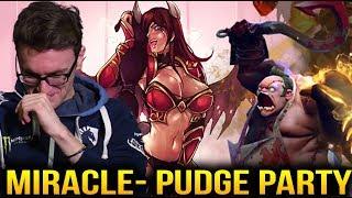 Miracle- Pudge VS QOP Top 80 Divine Rank Party game Dota 2