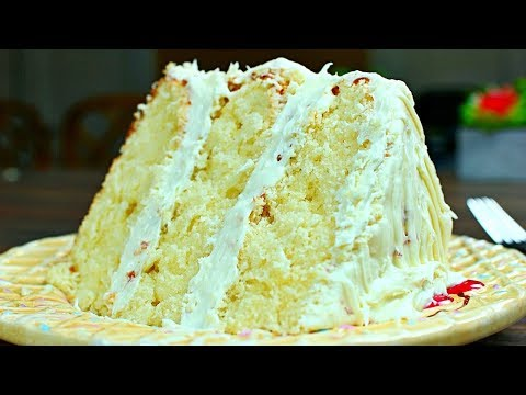 Most Amazing Vanilla Cake Recipe !!! Extra Rich And Moist Vanilla Cake