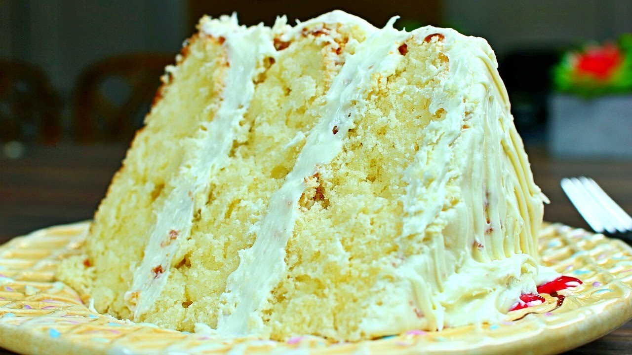 Most Amazing Vanilla Cake Recipe Extra Rich and Moist Vanilla
