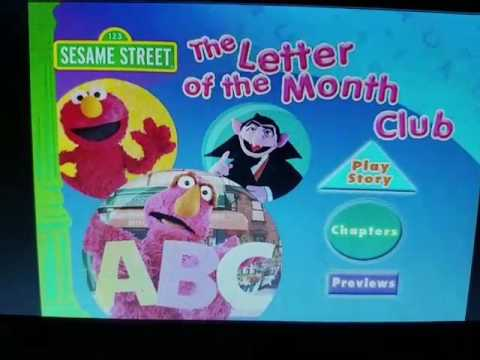 Sesame Street The Letter Of The Month Club.Sesame Street The Letter Of The Month Club Dvd Menu Youtube