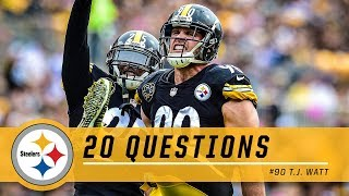 20 Questions with T.J. Watt | Pittsburgh Steelers