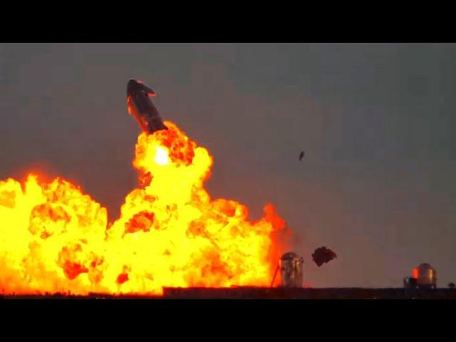 前沢氏搭乗予定の宇宙船試験機 着陸成功からの爆発炎上