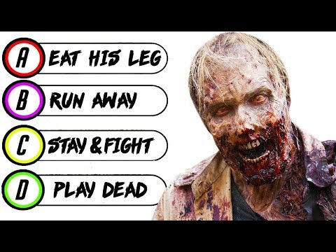 15 Questions to Determine if You Would SURVIVE The ZOMBIE APOCALYPSE | Chaos