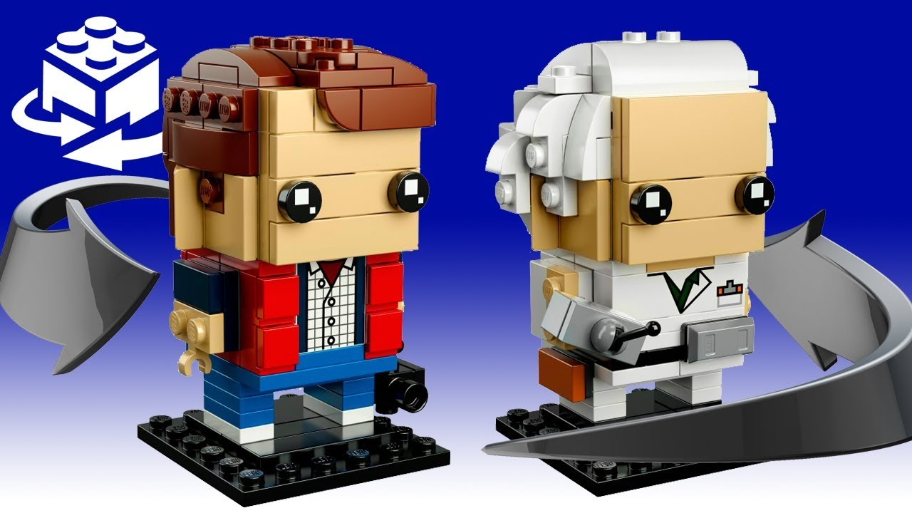 Travel back to the future  Marty McFly and Doc Brown! Lego BrickHeadz 41611