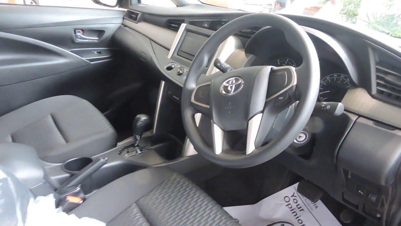 Toyota innova crysta 2 8 gx at interior youtube for Innova interior 8 seater