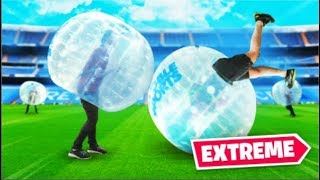 CLICK PLAYS BUBBLE SOCCER! (gone wrong) Video
