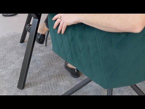 Velvet eetkamerstoel Furtado draaibaar groen
