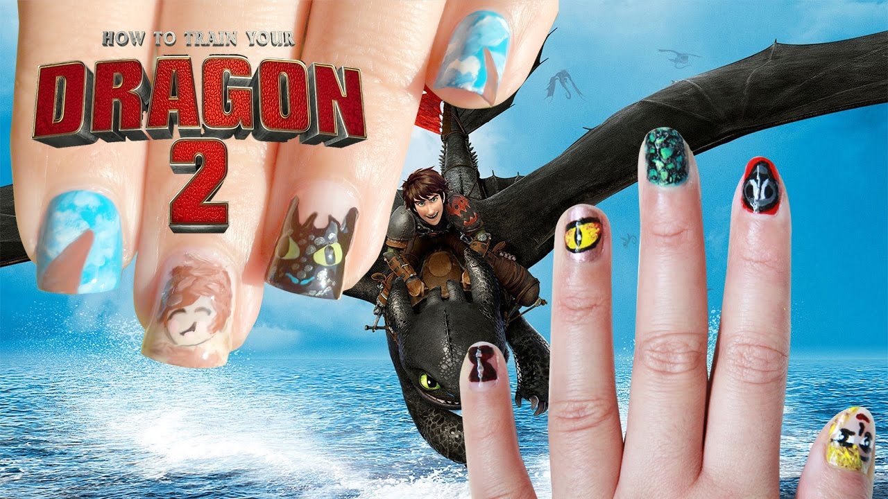 How To Train Your Dragon 2 Nail Art Collab With Minty Mina D Youtube