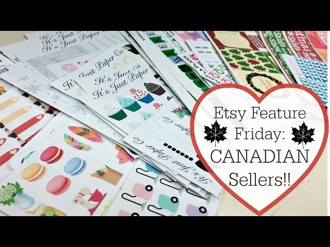 Etsy Sticker Feature | CANADIAN Sellers!!!