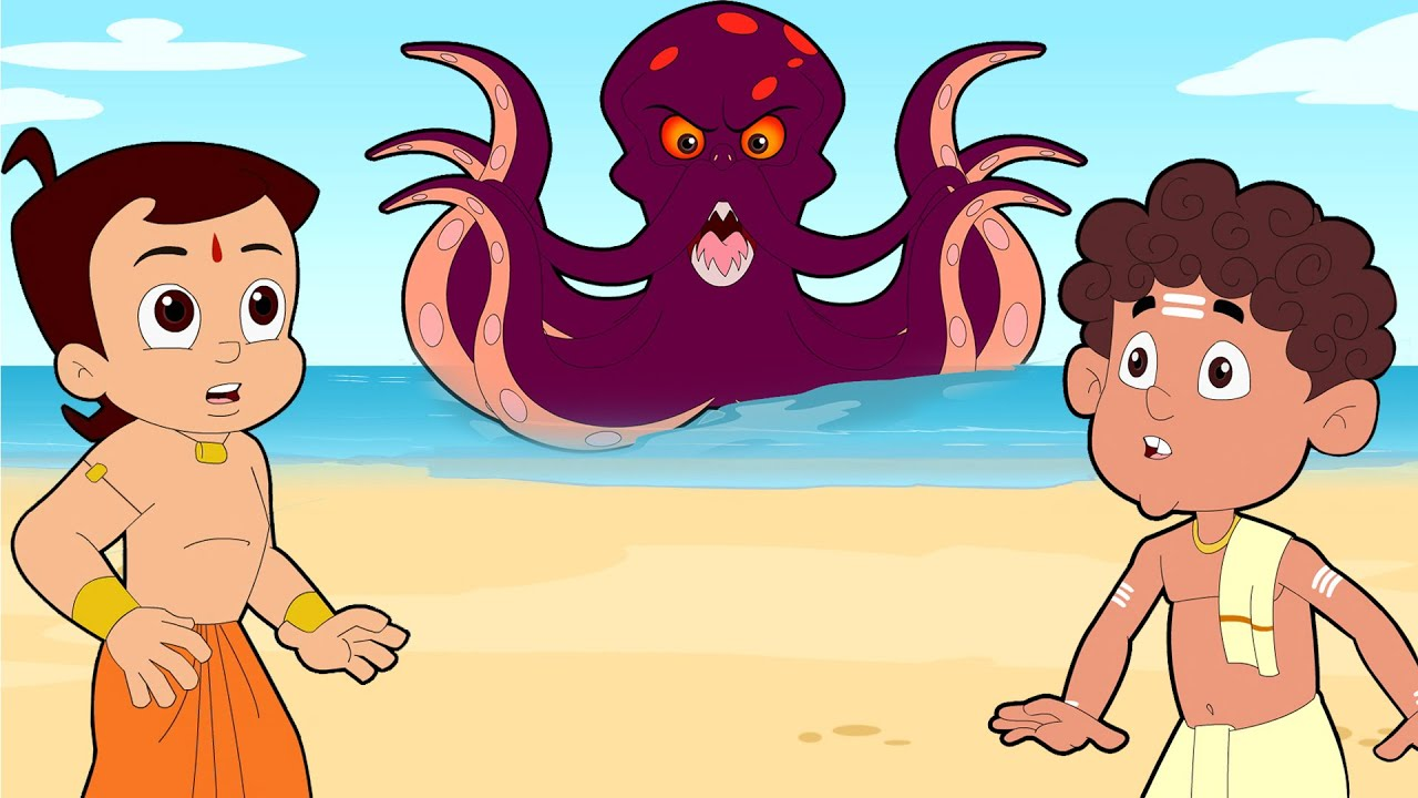 Download Chhota Bheem VS The Sea Monster   Adventure Videos for Kids in Hindi   Cartoons for Kids