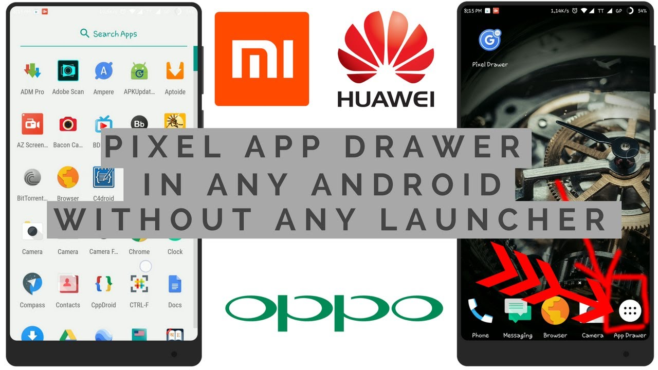 How to get app drawer on any android phone