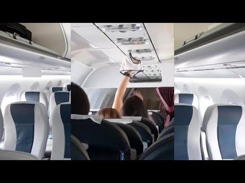 Woman Uses Airplane Seat Fan to Dry Underwear?