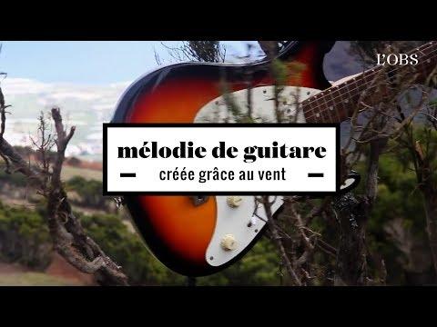 2 minutes d'une mélodie de guitare écrite grâce au vent
