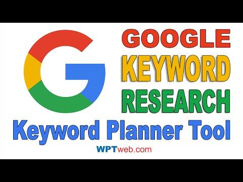 Google Keyword Research Tool Free - Google Keyword Planner Tool - WordPress Tutorial 14