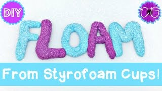 DIY Floam Slime from Cups!