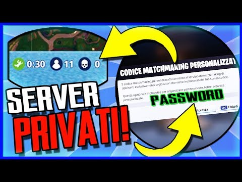 come fare un matchmaking personalizzato su fortnite pc