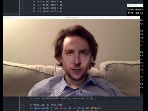 Real time face swapping with opencv and dlib