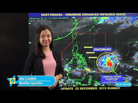 Public Weather Forecast Issued at 4:00 PM December 22, 2019