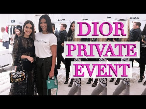 Come to a Private Dior Event With Me Feat. Camila Coelho! Gorgeous New Bags!