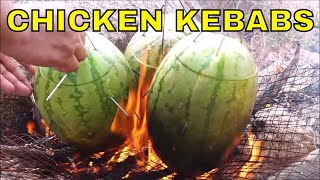 COOKING IN NATURE INSIDE 3 HEALTHY WATERMELON - QUICK EASY HEALTHY RECIPE IN WILD
