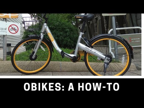 Trying out the oBike, the newest bike-share plan in Taiwan