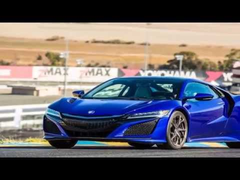 Honda NSX 2016 Blue road and track