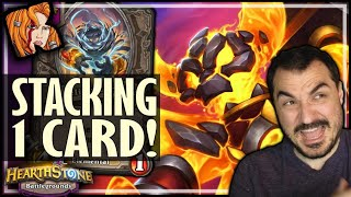 STACKING ONE CARD STILL WORKS?! - Hearthstone Battlegrounds