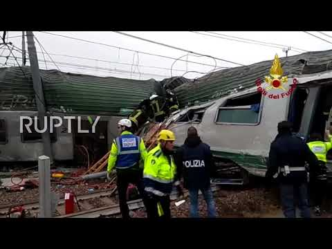 Italy: Rescue operations underway after Milan train derailment kills at least 3