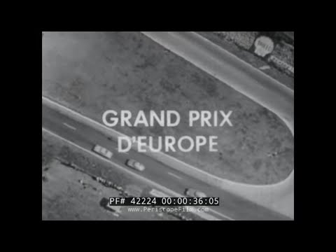10th GRAND PRIX OF EUROPE  TOUR DE FRANCE 1961 RACE  FERRARI RACE CARS 42224