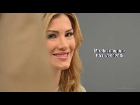 Miss World 2015 Mireia Lalaguna Shooting con Studio Xavier Grau